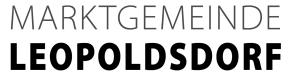 Schriftzug Logo Marktgemeinde Leopoldsdorf